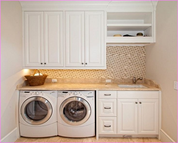Laundry Room Countertop Over Washer Dryer | Home Design Ideas