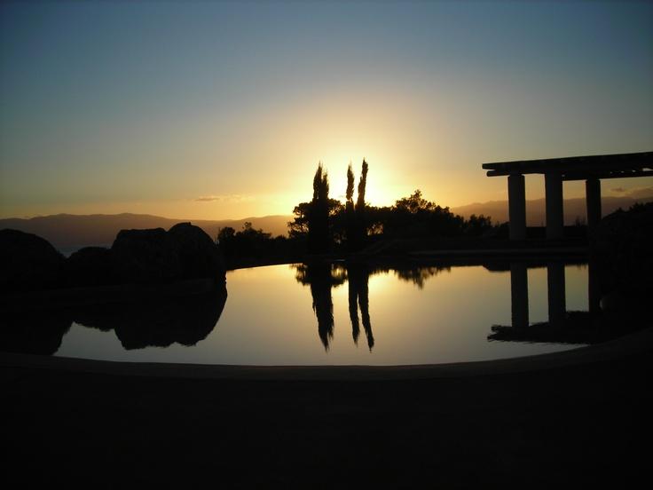 sunset at spetses island - greece