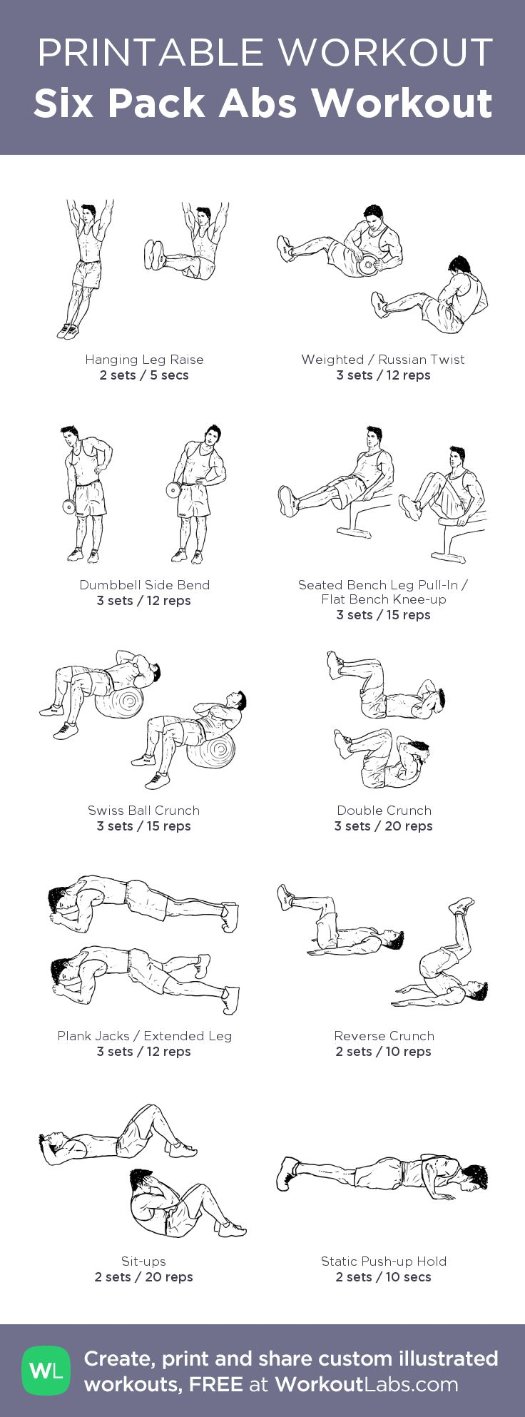 Six Pack Abs Workout t