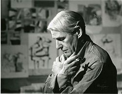 "Willem de Kooning ""I don't paint to live, I live to paint."""