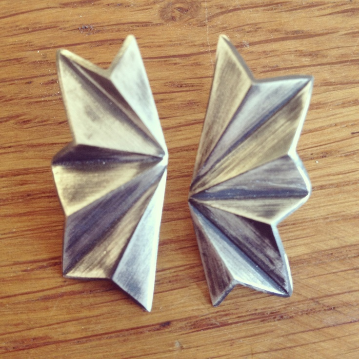 Folded 80's Silver/oxidised silver