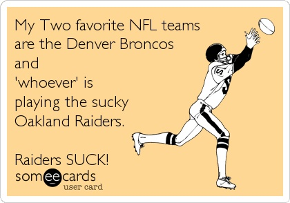 Broncos vs Raiders LOL