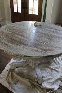 DIY restoration hardware white wash over oak