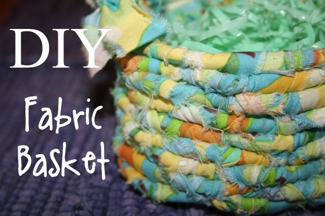 No sewing fabric Basket from scraps... chic envelopements