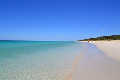 It is a three hours drive from Perth down to Busselton and the Eagle Bay National Park. The drive is absolutely worth it as beautiful beaches are waiting for you. If you go there don't forget your fly net in case you want to walk through the bush there.