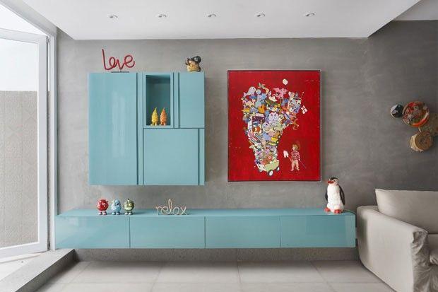 Reforma integra cômodos em apartamento de 80 m² - By  Ricardo Melo e Rodrigo Passos.