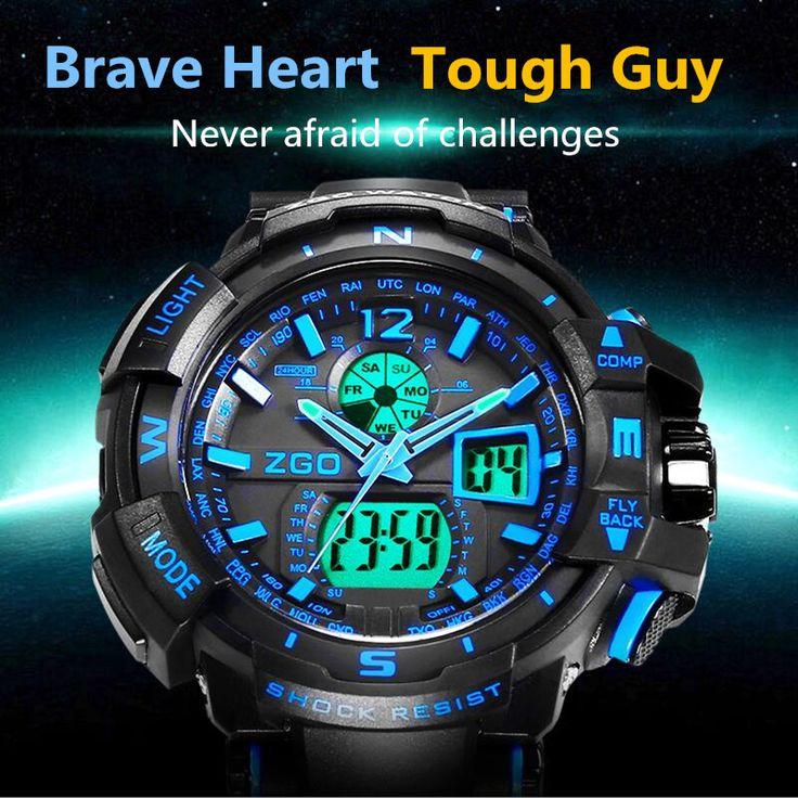 Male Fashion Sport Military Wristwatches 2016 New ZGO Watches Men Luxury Brand 5ATM 50m Dive LED Digital Analog Quartz Watches♦️ B E S T Online Marketplace - SaleVenue ♦️👉🏿 http://www.salevenue.co.uk/products/male-fashion-sport-military-wristwatches-2016-new-zgo-watches-men-luxury-brand-5atm-50m-dive-led-digital-analog-quartz-watches/ US $14.99
