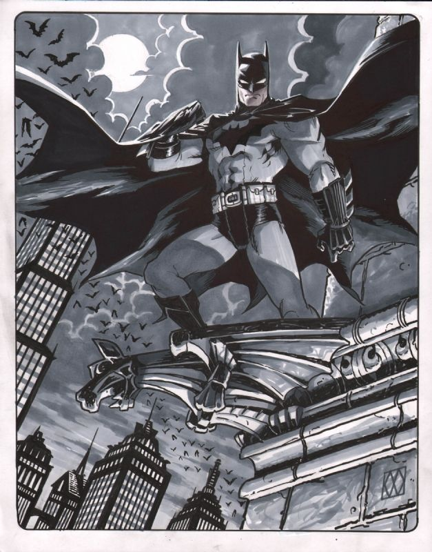 Matt Wagner Batman Comic Art