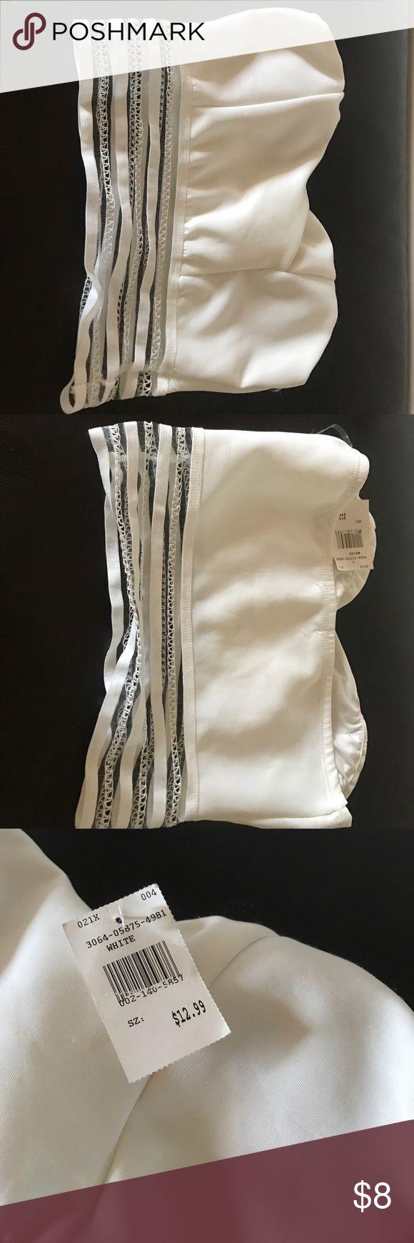 White strapless tube top Strapless white tube top Tops