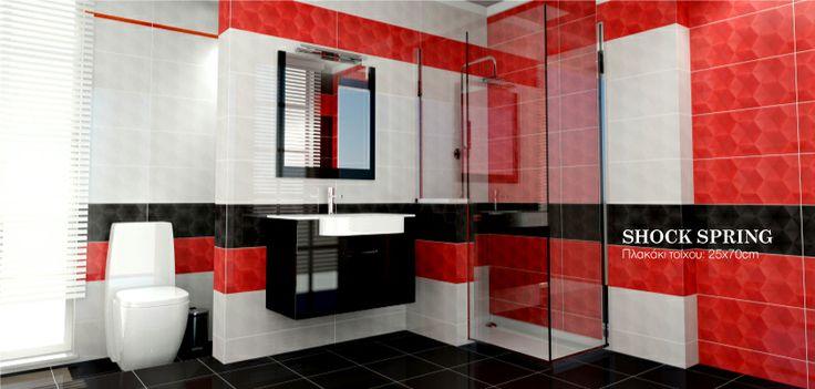 #Porcelana - Shock Spring #bathroom  www.porcelana.gr