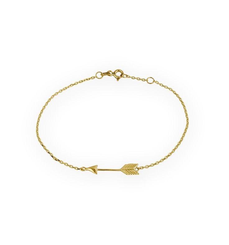 Bracelet flèche en métal doré plaqué or . Un bracelet fantaisie tendance 2017 . Bracelet réglable convient à tous les poignets.Ce bracelet tendancea tout ce qu'il lui faut pour devenir l'accessoire incontournable de la saison! Profitez de bracelet à prix mini! Emballage cadeau offert!