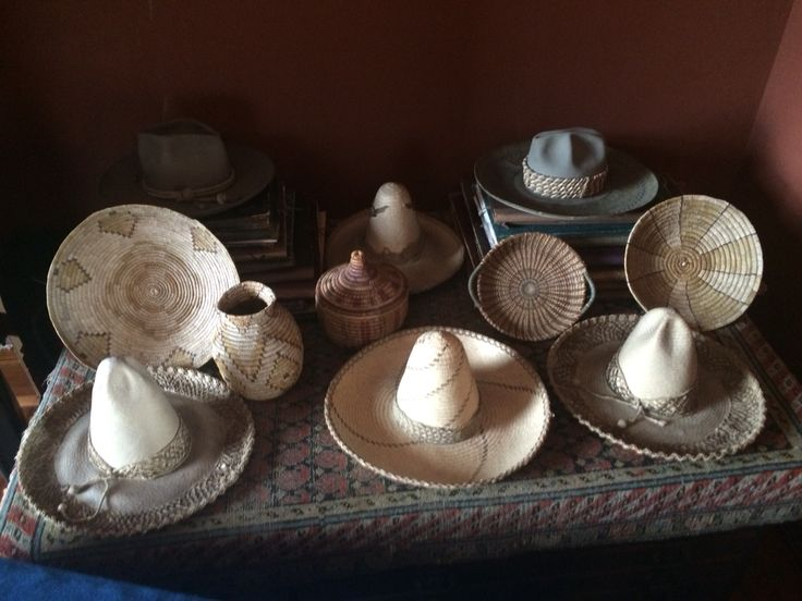 Frederick Church collected quintessential souvenirs like these Native American baskets, western cowboy hats, and Mexican sombreros. #souvenirsMW #museumweek #olanashs