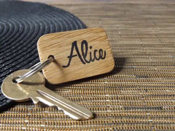 Personalised Keyring  Wooden Personalised Keyring  by MakeMemento