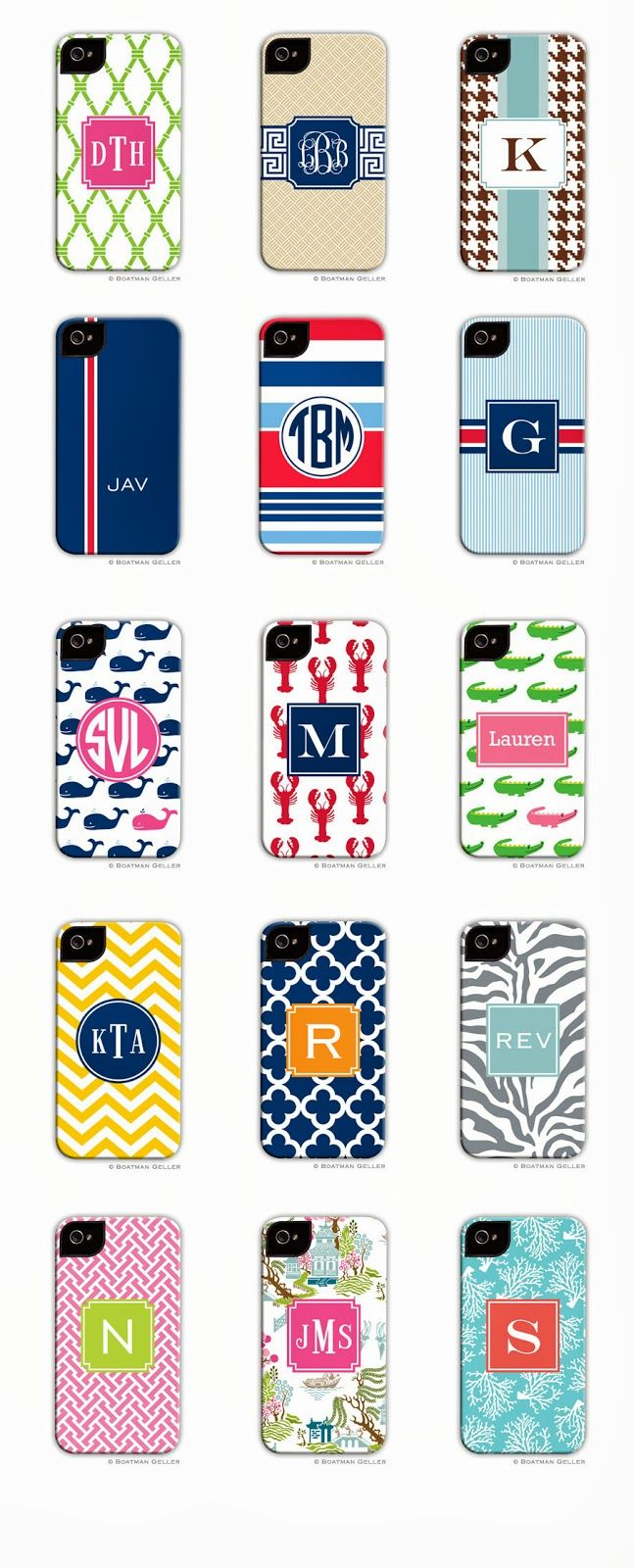 Buggy Designs Blog: Monogrammed Apple 5S cases are here from Boatman Geller! #Gifts #Monograms #iphone