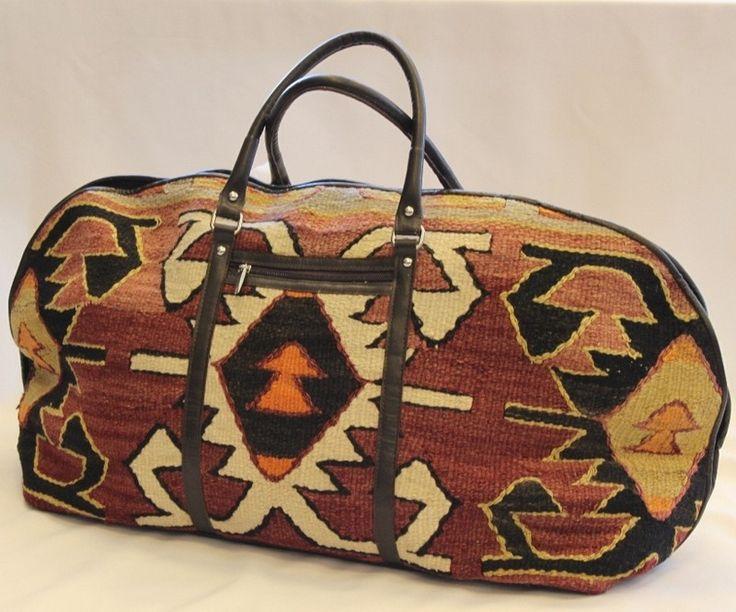 wool handbags   Anatolia Kilim Travel Bag