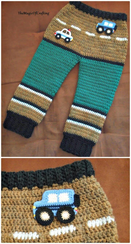 Crochet Toddler Pant-Free Pattern -  Crochet Baby Pants - 9 Free Patterns - DIY & Crafts