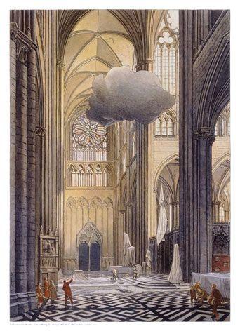 """dessin de François Schuiten créé en 2000 pour le projet """"Cathédrale d'Amiens aux Couleurs du Monde"""""""