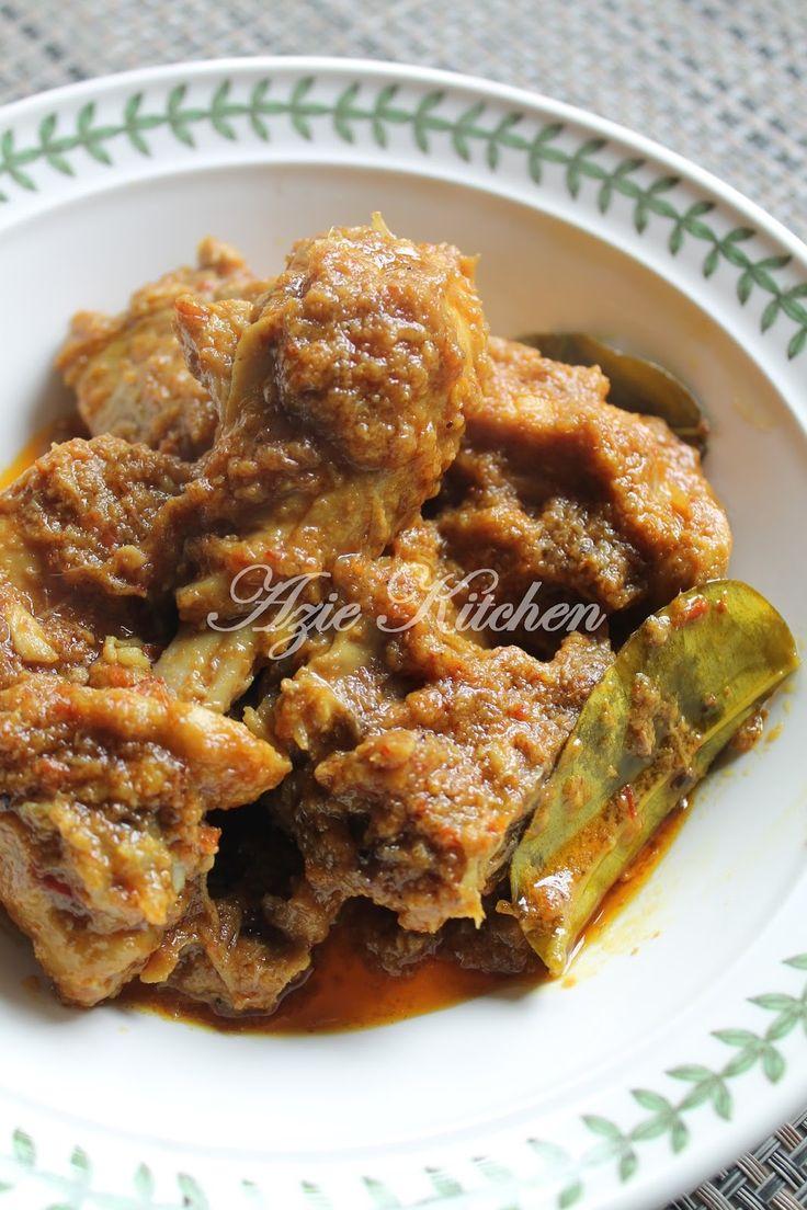 Azie Kitchen: Rendang Ayam Mudah dan Sedap