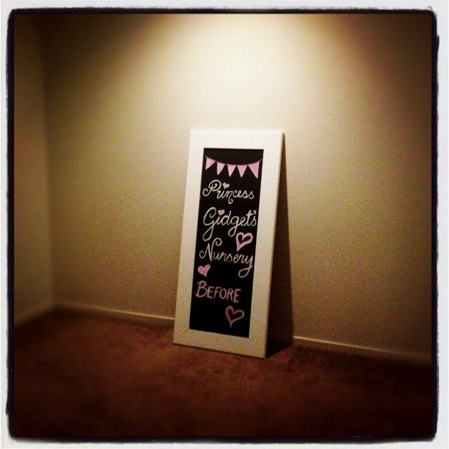 And so the nursery decorating has begun...yay!