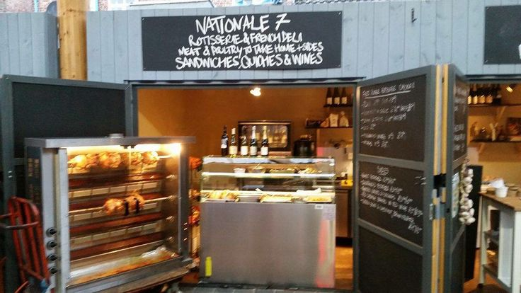 Shipping container deli @nationale7deli