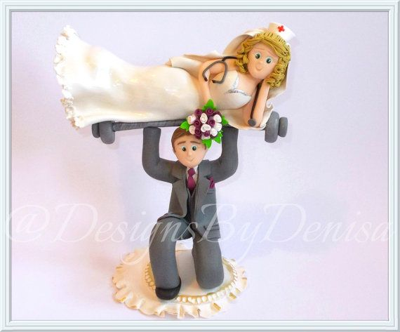 Personalised Cake Topper Weights Lifting Groom by DesignsByDenisa