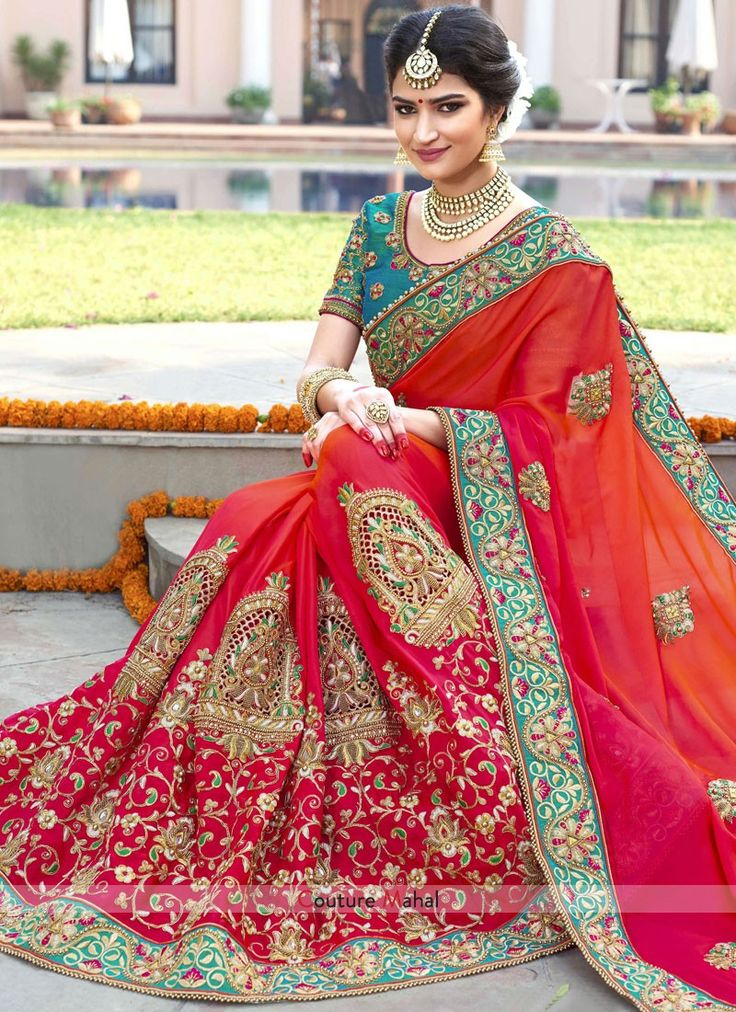 Shop for the wide range of bridal sarees in online USA.  Couture Mahal providing the bridal designer sarees for your wedding at an affordable price.