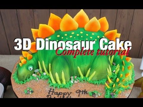 How To Make Dinosaur Cake Complete Video Tutorial