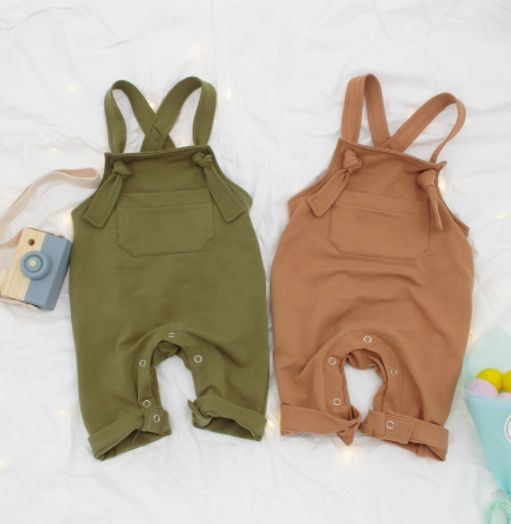 "Baby romper / child romper Romper Color: ""Olive Overall Romper"" Our garment …   – Baby clothes"