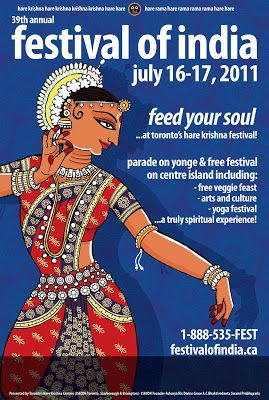 What I draw...: Posters done for Rath Yatra 2011 Festival organised by the Hare Krishna temple, Toronto
