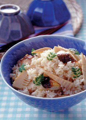 Japanese Sea Bream and Bamboo Shoot Rice 桜鯛とたけのこの炊き込みご飯