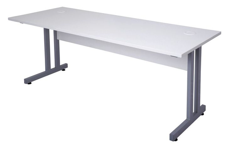 Rapidline Rapid Span Desk with C-Leg and Timber Panel – Dunn Furniture