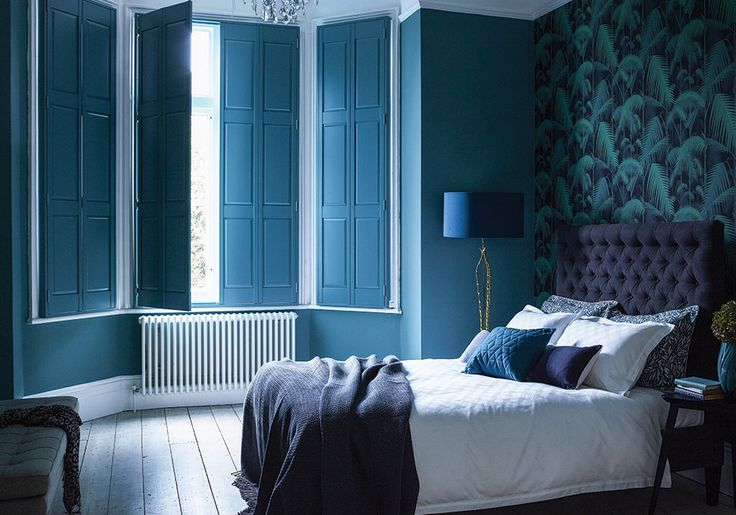 Blue bedroom shutters  | Contemporary interior design| www.bocadolobo.com | #beachstyle #luxurydesign