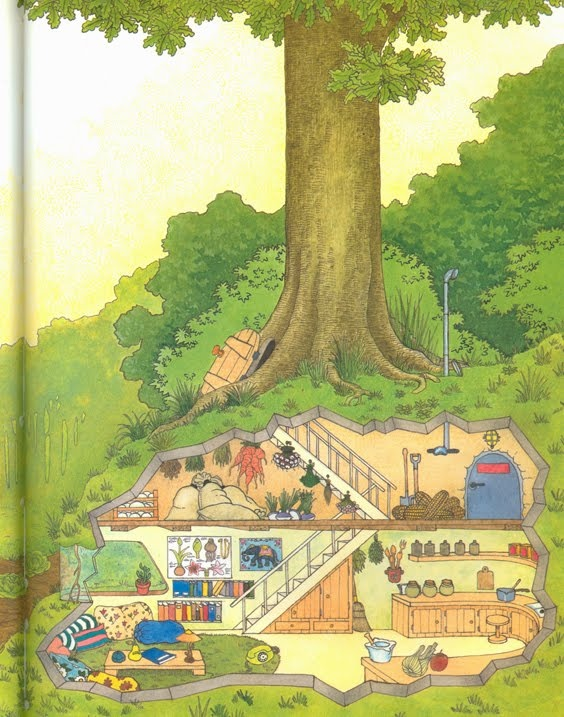 From one of my favourite books when I was little, House by Mouse, also known as Need a House? Call Ms. Mouse