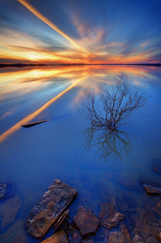 Lago Eufaula, Oklahoma.
