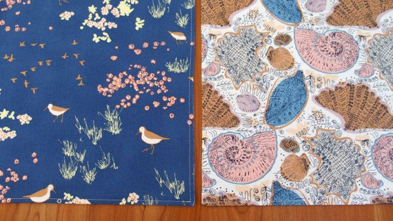 Nautical Placemats with Sand Pipers and by ItsHandmadebyArianne
