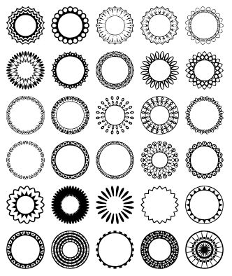 Download Hundreds Of Photoshop Shapes For Free Circles
