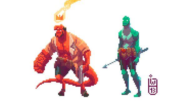 Hellboy Pixel Artist: Igor Wolski Source: behance.net