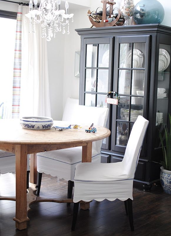 Slipcover With Scallop Edge Dining Room Chair