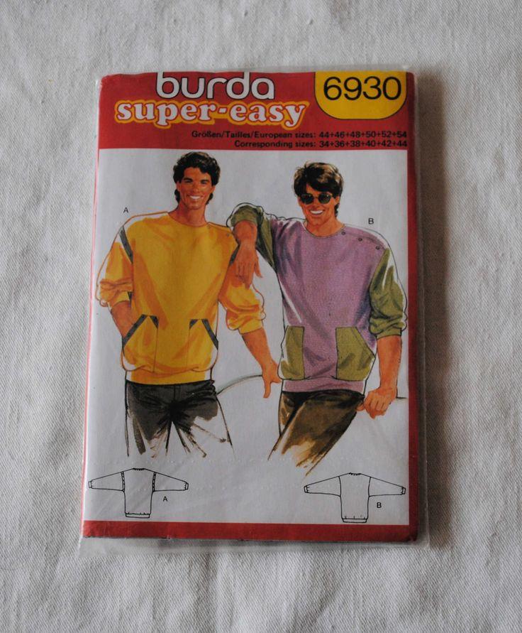 Size 34 36 38 40 42 44, UNCUT, Vintage 80s, Burda 6930