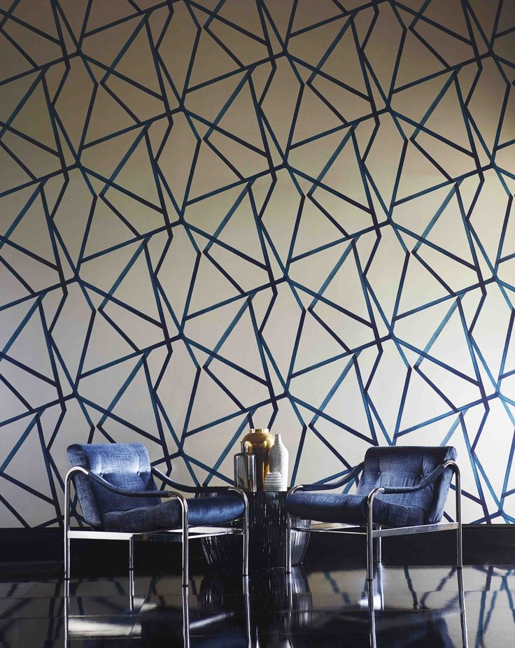 Sumi - a large scale, brushed geometric with an abstract, oriental feel from Harlequin's  Momentum Wallcoverings Volume 3 collection