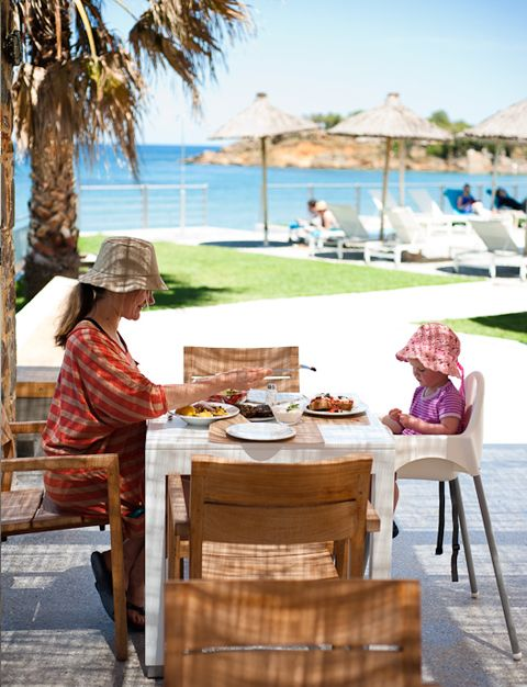 Ammos Hotel, lovely family friendly  hotel in Greece. They are very busy so best to book like a year in advance!