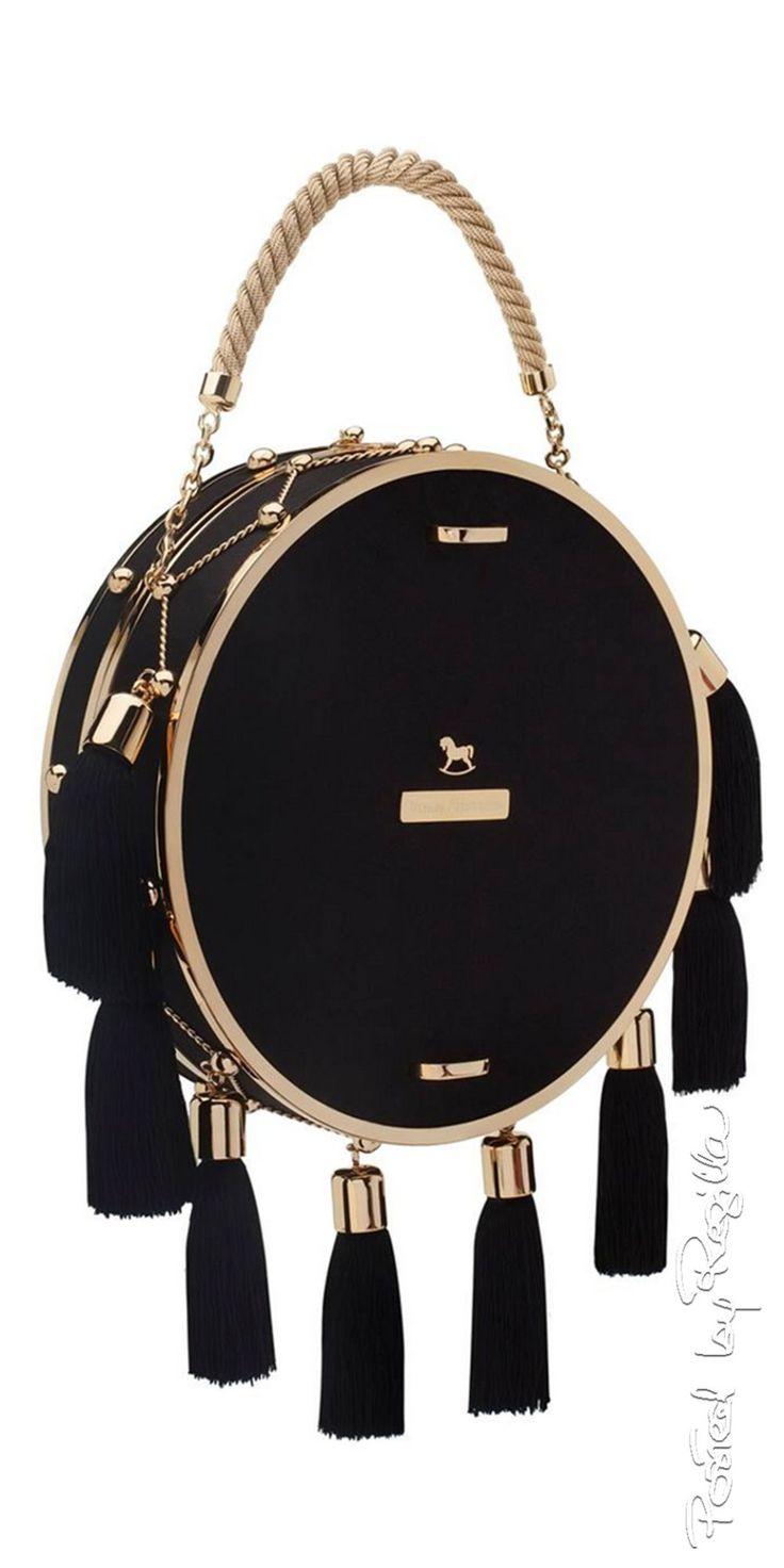 Ulyana Sergeenko 042315 Hermès tassle bag #Luxurydotcom