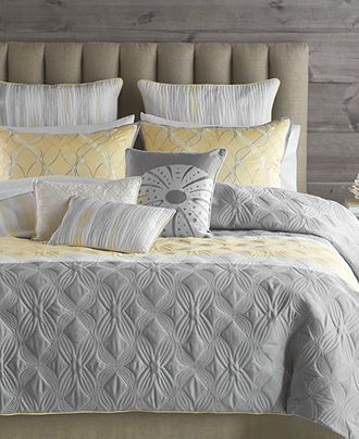 Gray and Yellow LOVE!   Bryan Keith Bedding, Tango 9 Piece Comforter Sets