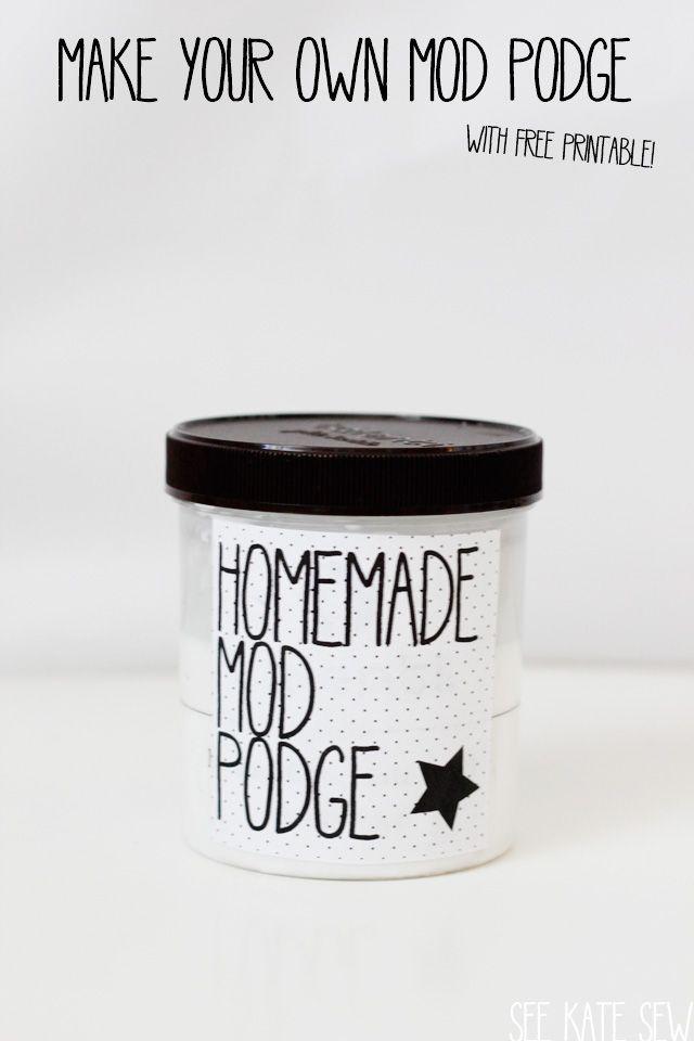 how to make homemade mod podge with glue