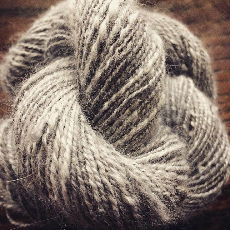 Angora yarn #fishearfarm #yarnporn #yarnspirations #spinnersofinstagram #handspun #handspunyarn #dropspindle #germanangora #angorayarn