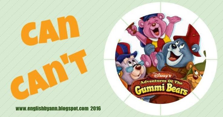 Verb 'can' with Gummi Bears!