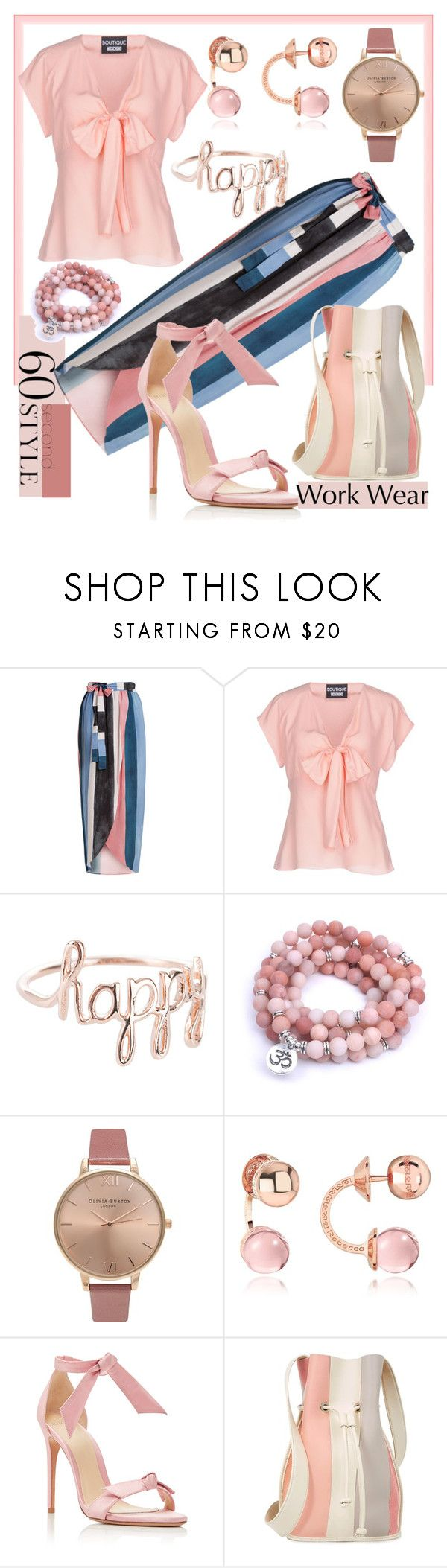 """""""60 Second Style: Work Wear"""" by mdfletch ❤ liked on Polyvore featuring Mara Hoffman, Boutique Moschino, Olivia Burton, Rebecca, Alexandre Birman, 10 Crosby Derek Lam, WorkWear and 60secondstyle"""