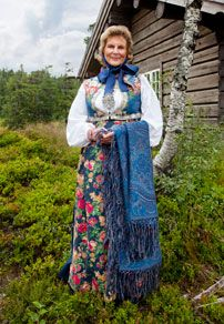 Bunad - traditional dress from Sigdal, Norway