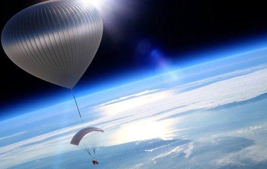 Через два года туристы будут летать в космос на воздушном шаре