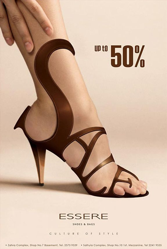 Design | Sale Ad by caprozo911 via deviantart // #shoe #typography #advertising